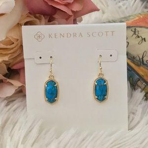 Kendra Scott Jewelry - KENDRA SCOTT Lee Earrings Bronze Veined Turquoise